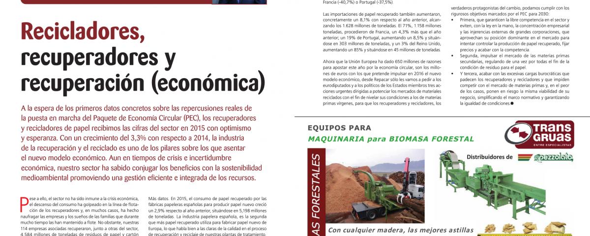 Recicladores, recuperadores y recuperación (económica) Revista Enviropres