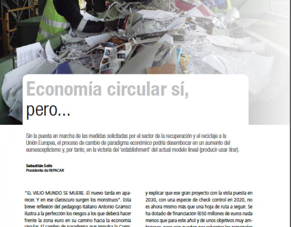 Economía circular sí, pero… Revista IndustriAmbiente